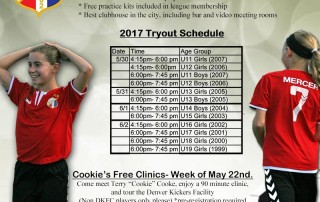 Denver Kickers Tryout Flyer